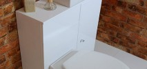 MFC Bathroom Cabinets with MDF pressed fascia's including Soft close drawer and door options